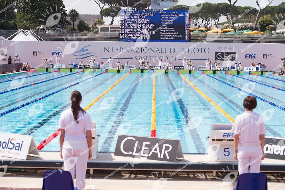 venues, advertisment, cartelloni<br /> <br /> Stadio del Nuoto, Roma<br /> day 01 24-06-2016<br /> Nuoto 53mo Trofeo Settecolli 2016 Clear Internazionali d'Italia<br /> <br /> Photo Giorgio Scala/Deepbluemedia/Insidefoto