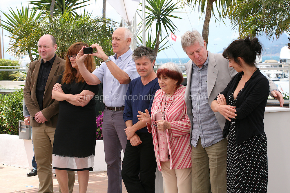 Gwenole Bruneau, Isabel Coixet, Michel Abramowicz, Eric Guirado, Agnes Varda, Regis Wargnier and Chloe Rolland at the Jury Camera D'Or photocall at the Cannes Film Festival 17th May 2013