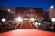 NRJ music awards 2013 a Cannes vue sur le palais depuis le tapie rouge..
