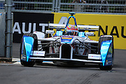 Andretti Formula E driver, Robin Frijns close to the wall during Round 9 of Formula E, Battersea Park, London, United Kingdom on 2 July 2016. Photo by Matthew Redman.