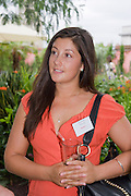 HARRIET HUSTLER, Archant Summer party. Kensington Roof Gardens. London. 7 July 2010. -DO NOT ARCHIVE-© Copyright Photograph by Dafydd Jones. 248 Clapham Rd. London SW9 0PZ. Tel 0207 820 0771. www.dafjones.com.