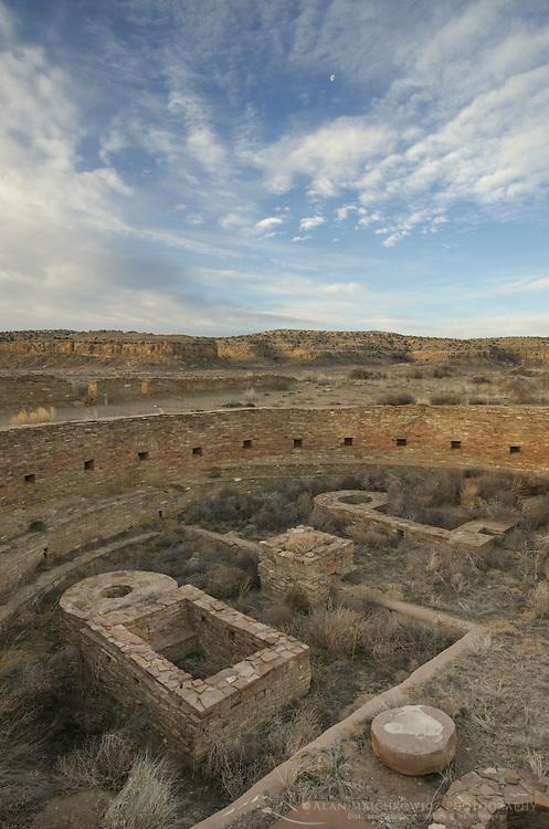 Kiva at Chetro Ketl ruins, Chaco Culture National Historical Park, New Mexico