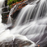Waterfall detail  in Valley de Darots, Auvergne, Livradois Forez, France