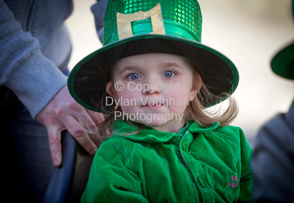 18/3/2013.Katie Cashin aged 2 from Thurles pictured at the Thurles Parade in Tipperary on Sunday..Picture Dylan Vaughan.