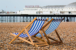 © Hugo Michiels Photography. Deckchairs on Brighton Beach. Photo credit: Hugo Michiels