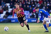 Bradford City defender Adam Henley in action during the EFL Sky Bet League 2 match between Macclesfield Town and Bradford City at Moss Rose, Macclesfield, United Kingdom on 30 November 2019.