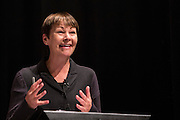 Caroline Lucas MP, Green party speaking at the PCS public fringe meeting at TUC congress 2015. Fighting for our future: There is an alternative to austerity.