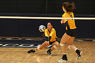 October 28, 2017 - Johnson City, Tennessee - Brooks Gym: ETSU defensive specialist Hailey Aguilar (1)<br /> <br /> Image Credit: Dakota Hamilton/ETSU