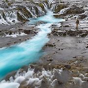 Brúarfoss is a beautiful waterfall near Geysir.