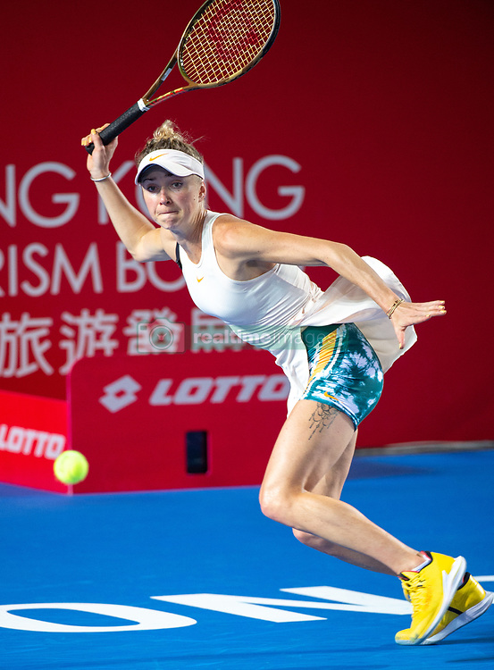 October 12, 2018 - Hong Kong, Hong Kong SAR, China - Wang Qiang of China in action against Elina Svitolina (pictured)  of the Ukraine in the quarter finals of the  Hong Kong Tennis Open in Victoria Park Hong Kong. (Credit Image: © Jayne Russell/ZUMA Wire)