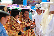 Traditional dancers in Copacobana, Bolivia