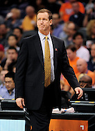 Nov. 21, 2012; Phoenix, AZ, USA; Portland Trail Blazers head coach Terry Stotts reacts from the sidelines during the game against the Phoenix Suns in the first half at US Airways Center. Mandatory Credit: Jennifer Stewart-US PRESSWIRE.