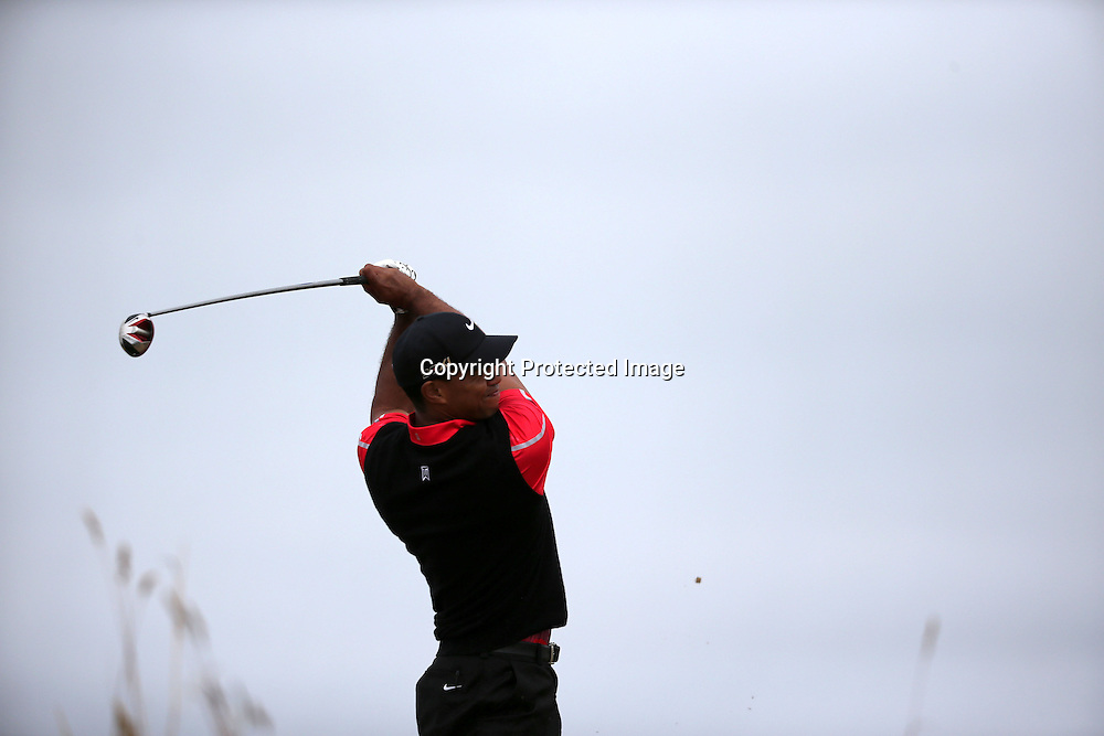 Tiger Woods (USA),<br /> JULY 21, 2013 - Golf :<br /> Tiger Woods of United States tees off on 6th hole during the final round of the 142nd British Open Championship at Muirfield in Gullane, East Lothian, Scotland. (Photo by Koji Aoki/AFLO SPORT) [0008]