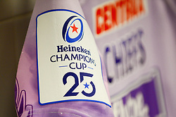 Heineken Champions Cup branding on shirts  - Mandatory by-line: Dougie Allward/JMP - 23/11/2019 - RUGBY - Sandy Park - Exeter, England - Exeter Chiefs v Glasgow Warriors - Heineken Champions Cup