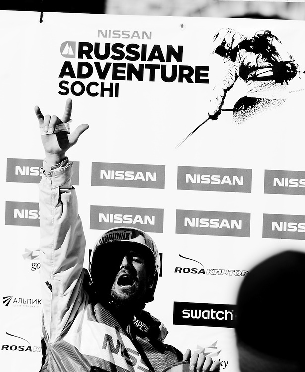 EVENT: NISSAN RUSSIAN ADVENTURE 2011, RIDER: JONATHAN CHARLET - FRA, STYLE: LIFESTYLE > STYLE.Freeride World Tour 2011 - Six locations around the world, Chamonix Mont-Blanc, Engadin St Moritz, Sochi, Kirkwood, Fieberbrunn and Verbier have been selected for the 4th edition of the Freeride World Tour..The planet's top freeride skiers and snowboarders, men and women travel around the world to prove their skills on some of the most challenging faces..www.freerideworldtour.com