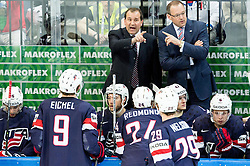 Todd Richards (L), head coach of USA during Ice Hockey match between USA and Czech Republic at Third place game of 2015 IIHF World Championship, on May 17, 2015 in O2 Arena, Prague, Czech Republic. Photo by Vid Ponikvar / Sportida