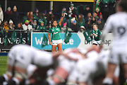 Ireland player Sene Naoupu barks out instructions during a scrum in the second half during the Women's 6 Nations match between Ireland Women and England Women at Energia Park, Dublin, Ireland on 1 February 2019.