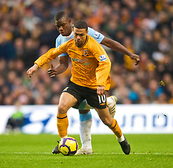 MANCHESTER, ENGLAND - Saturday, November 28, 2009: Hull City's Deiberson Geovanni during the Premiership match against Manchester City at the City of Manchester Stadium. (Photo by David Rawcliffe/Propaganda)