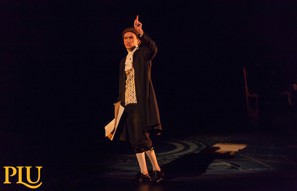 Amadeus rehearsal at PLUf, Thursday, Oct. 20, 2016. (Photo: John Froschauer/PLU)