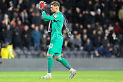 Derby County goalkeeper Ben Hamer applauds the Derby supporters  during the EFL Sky Bet Championship match between Derby County and Fulham at the Pride Park, Derby, England on 21 February 2020.