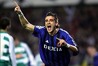 BRUGGE, 02/11/2005  <br /> SPORT / FOOTBALL / VOETBAL / UEFA CHAMPIONS LEAGUE / MATCHDAY 4 / GROUP A /  CLUB BRUGGE KV - RAPID WENEN  /  FC BRUGES - RAPID VIENNA / <br /> VREUGDE - JOIE CLUB BRUGGE / JAVIER PORTILLO<br />  / PICTURE BY JIMMY BOLCINA & NICO VEREECKEN<br /> DIGITALSPORT<br /> NORWAY ONLY