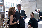 STEPHEN FRY, Sebastian Horsley funeral. St. James's church. St. James. London afterwards in the church garden. July 1 2010. -DO NOT ARCHIVE-© Copyright Photograph by Dafydd Jones. 248 Clapham Rd. London SW9 0PZ. Tel 0207 820 0771. www.dafjones.com.