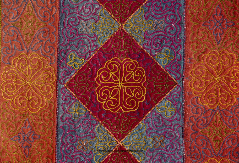Embroidered Felt Rug, Abai Village, Kazakhstan