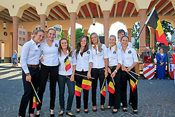 Belgische team<br /> European Championships Junior and Young Riders 2010<br /> © Hippo Foto - Leanjo de Koster