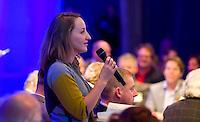 UTRECHT -  Ellen Zwart, manager Zaanse GC , A tribe called Golf, de kracht van de connectie. Nationaal Golf Congres van de NVG 2014 , Nederlandse Vereniging Golfbranche. COPYRIGHT KOEN SUYK