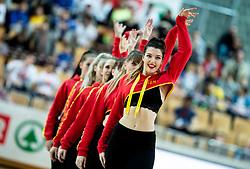 Cheerleaders perform during basketball match between KK Sixt Primorska and KK Petrol Olimpija in semifinal of Spar Cup 2018/19, on February 16, 2019 in Arena Bonifika, Koper / Capodistria, Slovenia. Photo by Vid Ponikvar / Sportida