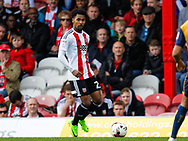 Rico Henry of Brentford during the Sky Bet Championship match between Brentford and Bristol City at Griffin Park, London<br /> Picture by Mark D Fuller/Focus Images Ltd +44 7774 216216<br /> 01/04/2017