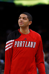 Feb 15, 2012; Oakland, CA, USA; Portland Trail Blazers small forward Nicolas Batum (88) warms up before the game against the Golden State Warriors at Oracle Arena. Portland defeated Golden State 93-91. Mandatory Credit: Jason O. Watson-US PRESSWIRE