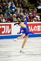 KELOWNA, BC - OCTOBER 25:  Japanese figure skater Rika Kihira competes at Skate Canada International in the ladies short program at Prospera Place on October 25, 2019 in Kelowna, Canada. (Photo by Marissa Baecker/Shoot the Breeze)