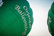 Myanmar, Mandalay. Oriental Ballooning flight over Mandalay.
