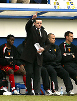 Photo: Chris Ratcliffe.<br />Luton Town v Watford. Coca Cola Championship.<br />02/01/2006.<br />Adrian Boothroyd, the Watford manager points the way to the Premiership?