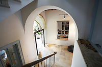 Cyprus view from staircase of hallway in restored antique town house
