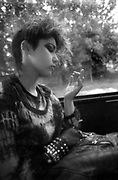 Kelly as Punk in Bus, High Wycombe, UK, 1980s.