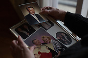 Maureen Weber displays photos of her husband Joe, a Vietnam veteran who died of brain cancer in 1993, at her home in Lewiston, New York on Tuesday, December 27, 2016. Maureen believes that Joe's cancer was caused by exposure to Agent Orange during the war. Mike Bradley for ProPublica