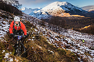 Chris Marquis tackles stage one of the Kinlochleven Enduro.
