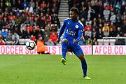 Demarai Gray (7) of Leicester City controls the ball during the Premier League match between Bournemouth and Leicester City at the Vitality Stadium, Bournemouth, England on 30 September 2017. Photo by Graham Hunt.