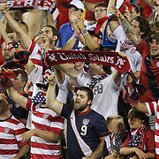 USA supporters chant during an international friendly soccer match between Scotland and the United States at EverBank Field on Saturday, May 26, 2012 in Jacksonville, Florida.  The United States won the match 5-1 in front of 44,000 fans. (AP Photo/Alex Menendez)