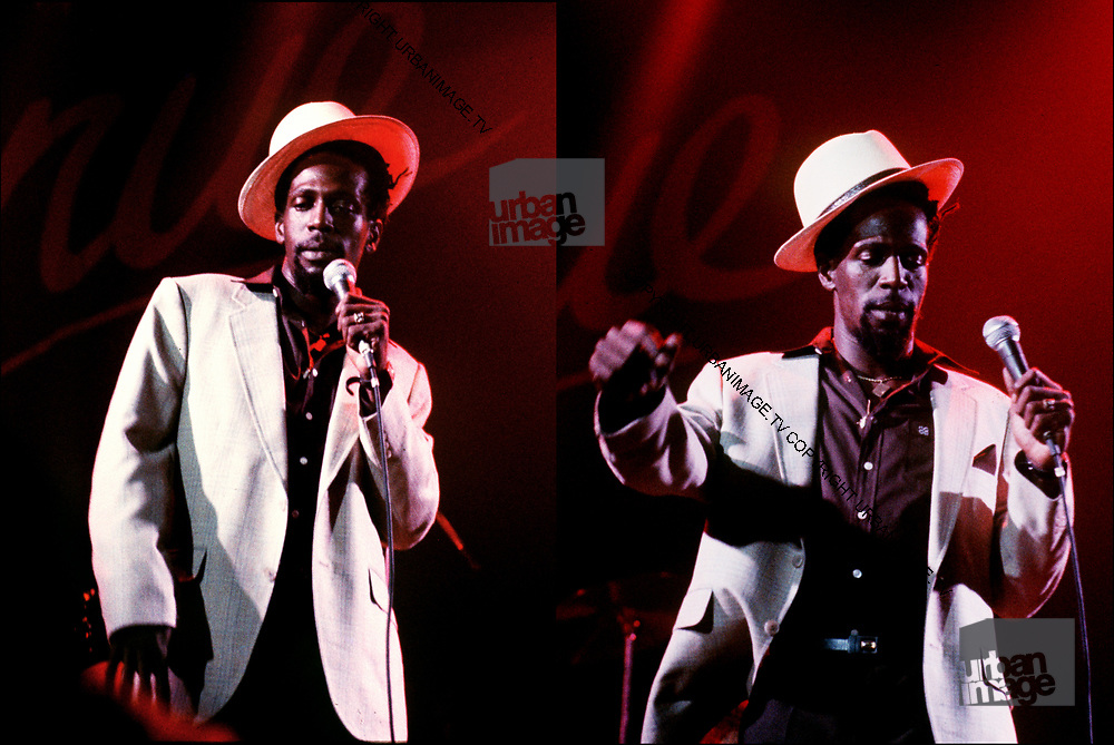 Photograph of Gregory Isaacs in concert