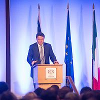 Foto Piero Cruciatti / LaPresse<br /> 02-10-2014 Londra, Gran Bretagna<br /> Politica<br /> Intervento del presidente del Consiglio Matteo Renzi presso la Guildhall <br /> Nella foto: Presidente del Consiglio dei Ministri, Matteo Renzi <br /> <br /> Photo Piero Cruciatti / LaPresse<br /> 02-10-2014 London, United Kingdom<br /> Politics<br /> Italian PM Matteo Renzi speaks at Guildhall <br /> In the photo: Italian Prime Minister, Matteo Renzi