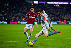 LONDON, ENGLAND - Monday, February 4, 2019: Liverpool's Andy Robertson during the FA Premier League match between West Ham United FC and Liverpool FC at the London Stadium. (Pic by David Rawcliffe/Propaganda)