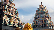KADIRI, INDIA - 28th October 2019 - Hindu temple architecture, Kadiri, Andhra Pradesh, South India.