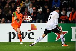 09-02-2011 VOETBAL: NEDERLAND - OOSTENRIJK: EINDHOVEN<br /> Netherlands in a friendly match with Austria won 3-1 / Erik Pieters NED<br /> ©2011-WWW.FOTOHOOGENDOORN.NL
