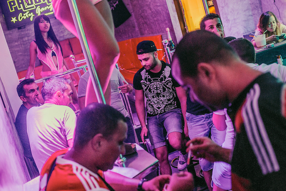 Seth Gueko bar, on Bangla road. The owner, Seth Gueko is a French rapper. French tourists, many from the suburbs of Paris, come to visit the bar every night.