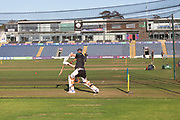 Net practice before Day 4 of the Specsavers County Champ Div 2 match between Glamorgan County Cricket Club and Leicestershire County Cricket Club at the SWALEC Stadium, Cardiff, United Kingdom on 19 September 2019.