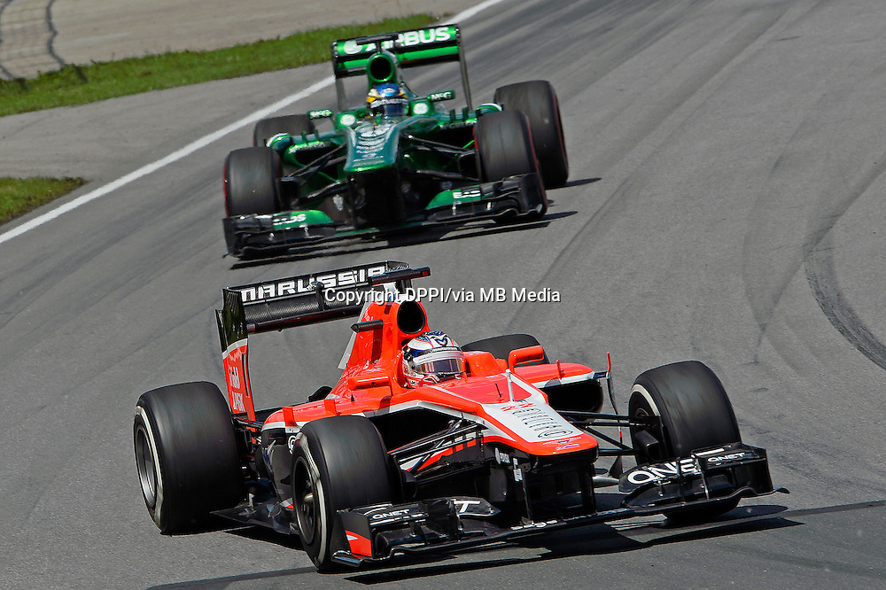 MOTORSPORT - F1 2013 - GRAND PRIX OF CANADA - MONTREAL (CAN) - 07 TO 09/06/2013 - PHOTO ERIC VARGIOLU / DPPI BIANCHI JULES (FRA) - MARUSSIA MR02 - ACTION<br /> PIC CHARLES (FR) CATERHAM RENAULT CT03 - ACTION