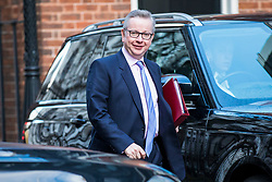 © Licensed to London News Pictures. 27/02/2018. London, UK. Secretary of State for Environment, Food and Rural Affairs Michael Gove on Downing Street. Photo credit: Rob Pinney/LNP